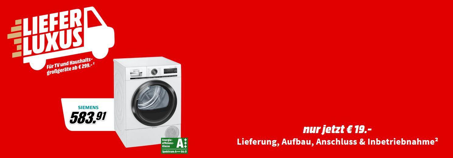 Media Markt: Lieferluxus für Haushaltsgroßgeräte ab 299€ für nur 19€ (Lieferung, Aufstellung und Anschluss)