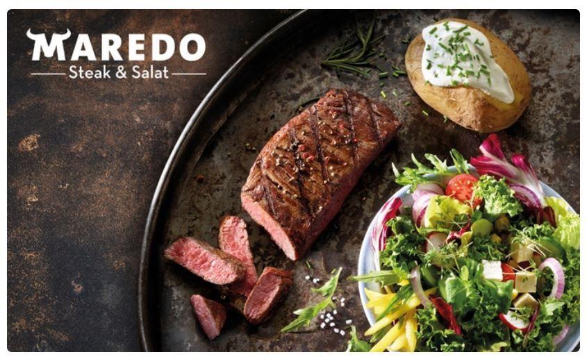 Maredo Gutschein: 2 Personen Steak Menü mit All you can eat Salat für 49,99€ (statt 79,88€)