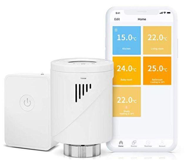 Meross Smart WLAN Heizkörperthermostat + MTS100H Hub mit Alexa + Google für 48,99€ (statt 70€)