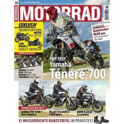 7 Ausgaben MOTORRAD für 27,30€ + 27,30€ Verrechnungsscheck