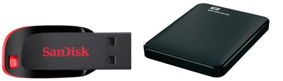 WD Elements Portable 1TB USB 3.0 + SanDisk CruzerBlade 32GB für 49€ (statt 59€)