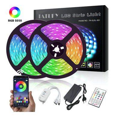 TATUFY LED Streifen mit Bluetooth und Alexa in 10M mit 300LEDs für 18,49€ (statt 37€)