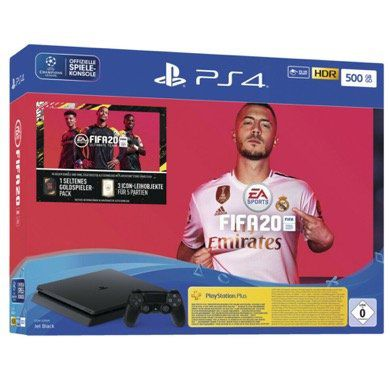 Sony PlayStation 4 Slim 500GB + FIFA 20 Ultimate Team für 229€ (statt 265€)