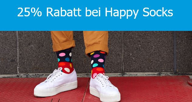 Happy Socks mit 25% PayPal Rabatt auf fast alles + VSK frei