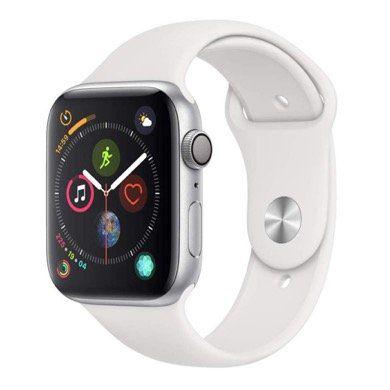 Apple Watch Series 4 GPS 44mm in Weiss für 345,91€ (statt 385€)