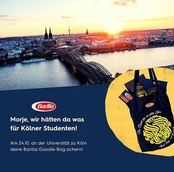 Aktion geht weiter: Kostenloses Goodie Bag mit Barillaprodukten für Studenten