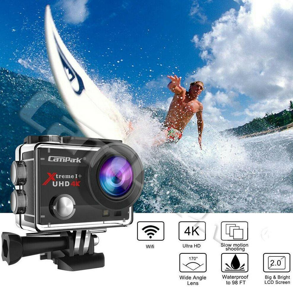 Campark 4K Action WLan Kamera mit Zubehör für 29,75€ (statt 39€)