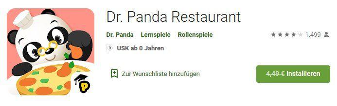 Android: Dr. Panda Restaurant kostenlos (statt 4,49€)