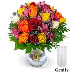 Rosenstrauß Farbtraum mit über 40 Blüten für 24,98€