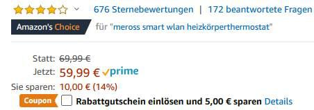 Meross Smart WLAN Heizkörperthermostat + MTS100H Hub mit Alexa + Google für 42,99€ (statt 70€)