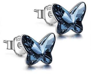 Angel Nina Schmetterlings Ohrstecker aus 925 Sterling Silber mit Swarovski Kristall für 7,99€ (statt 26€)