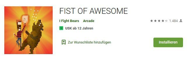 Android: FIST OF AWESOME kostenlos (statt 1,09€)