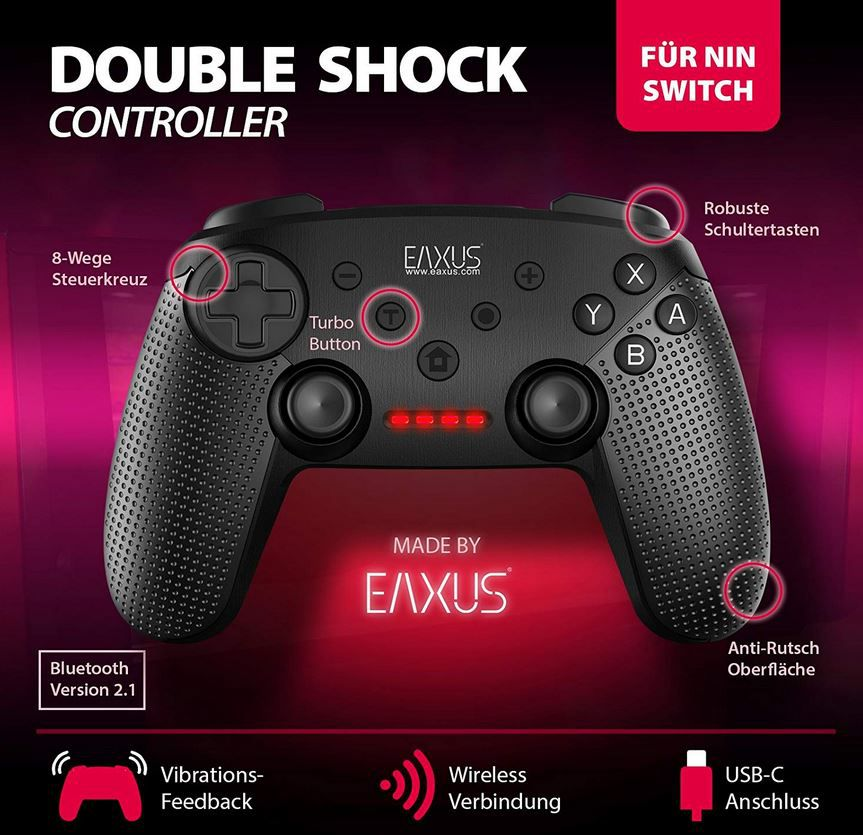 Eaxus Nintendo Switch Double Shock Controller für 18,99€ (statt 23€)