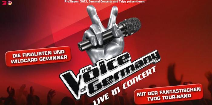 The Voice of Germany Live in Concert Ticket in Aschaffenburg + ÜN im Premium Hotel ab 79€ p.P.