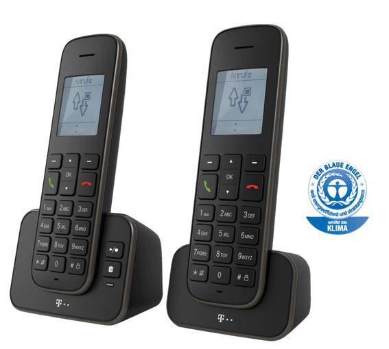 TELEKOM Sinus A 207 Duo   Schnurloses Telefonset mit 2 Mobilteilen für 25€ (statt 40€)
