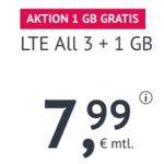 Allnet-Flat im O2-Netz mit 4GB LTE 50 Mbit/Sek. für 7,99€ – monatlich kündbar