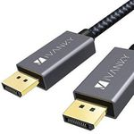 iVANKY DisplayPort-Kabel in 2 Meter Länge mit Nylongeflecht für 5,94€ (statt 8€) – Prime