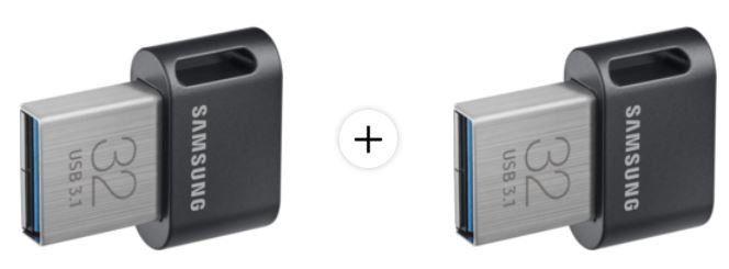 Doppelpack: SAMSUNG Flash Drive FIT Plus 32USB Stick für 13€ (statt 33€)