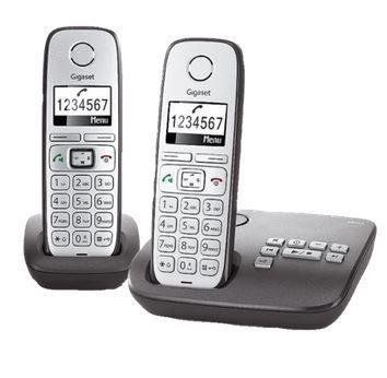Gigaset E310A Duo   Schnurlostelefon mit 2 Mobilteilen und AB für 49,99€ (statt 63€)