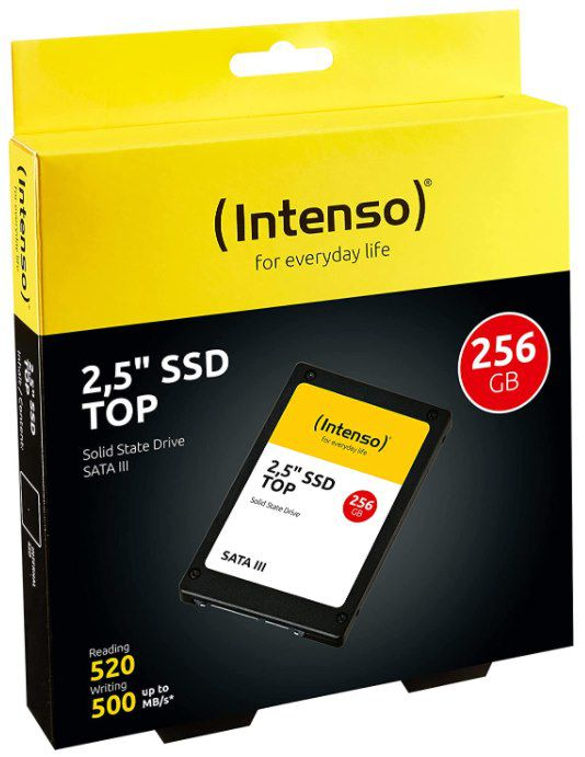 Intenso SSD SATA III   256GB 2,5 Top High Speed MLC für 24,99€ (statt 31€)   Prime