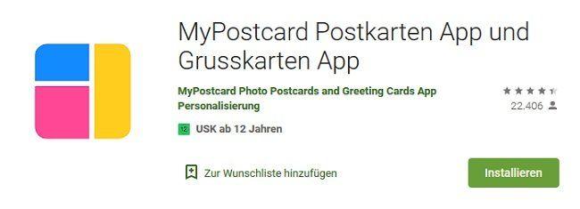 Android: Gratis Postkarte verschicken mit der MyPostCard App