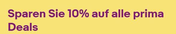 eBay Perfect Sunday: über 3000 Wows bis 8 Uhr mit 10% Sofort Rabatt