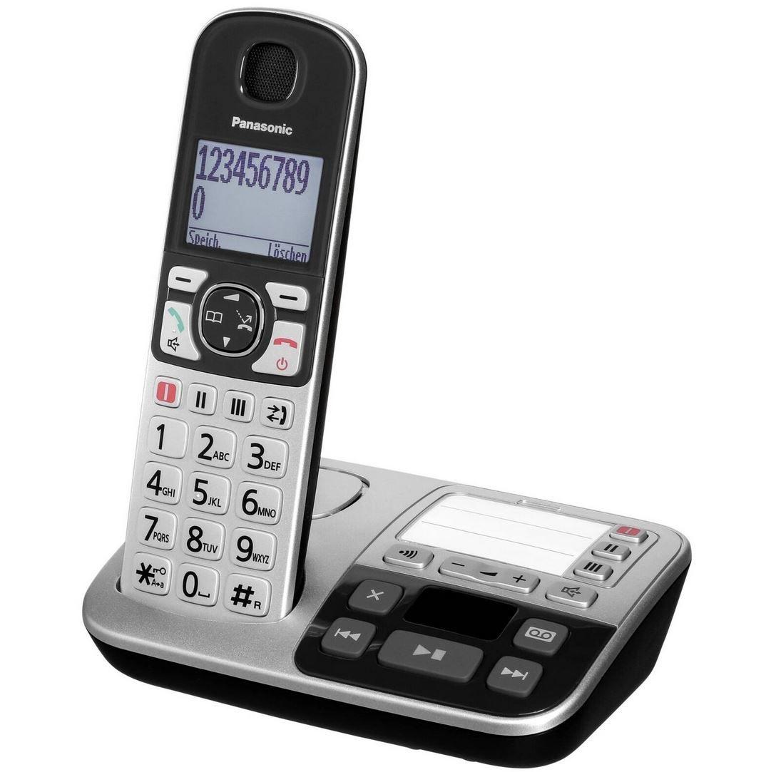 Panasonic KX TGE520GS   Schnurloses DECT Telefon mit AB für 49,90€ (statt 60€)