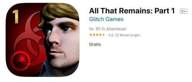 iOS: All That Remains: Part 1 kostenlos (statt 2,29€)