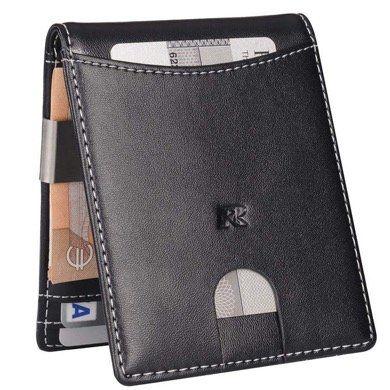 Ruschen Herren Geldbörse mit Geldklammer aus Echt Leder mit RFID Blocker für 11,37€ (statt 19€)