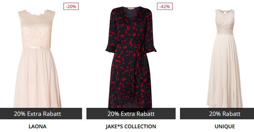 🔥 Peek & Cloppenburg* Damen Sale mit 20% Extra Rabatt auf Kleider