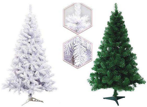 35% Rabatt auf künstliche Weihnachtsbäume ab 120 bis 220cm in Grün oder Weiß ab 11,04€ (statt 17€)