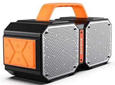 Bugani M83   BT 5.0 IPX5 Stereo Lautsprecher für 22,76€ (statt 57€)