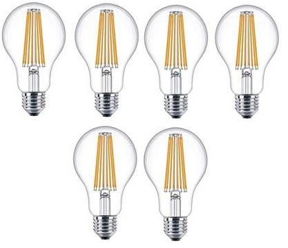 6er Pack 💡 Philips Attralux LEDclassic E27 Glühbirne für 14,99€ (statt 51€)