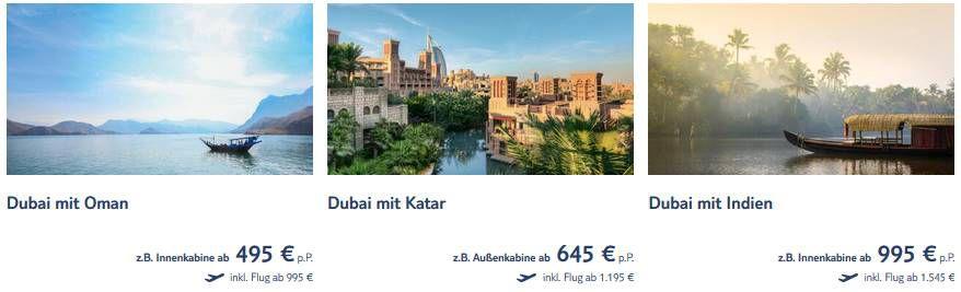 TUI Cruises Black Weekend Angebote z.B. 8 Tage Dubai mit Oman ab 495€ p.P.