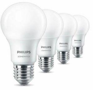 4er Pack Philips E27 LED Birne SceneSwitch A60 für 9,99€ (statt 20€)
