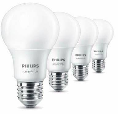 8er Pack Philips E27 LED Birne SceneSwitch A60 für 18,41€ (statt 50€)