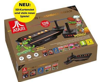 ATARI Flashback 9 Gold HD Retro Spielekonsole mit 120 Spiele & 2 Controllern für 54,94€ (statt 99€)