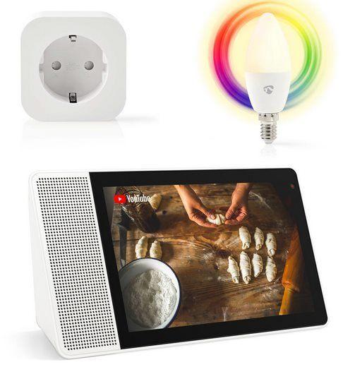Bundle: Lenovo Smart Display inkl. WLAN Steckdose & LED Lampe für 149€ (statt 237€)