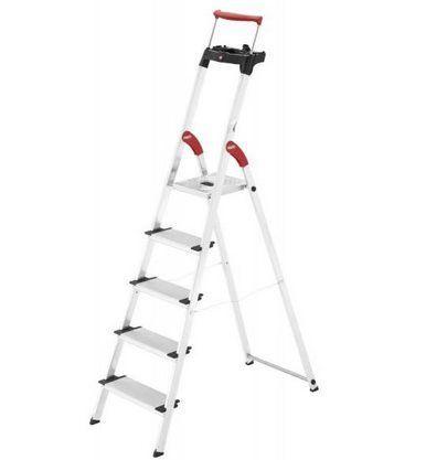 Hailo Haushaltsleiter ComfortLine XXR (5 Stufen) mit ausziehbarem Sicherheits Haltebügel für 57,99€ (statt 70€)