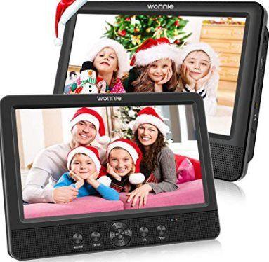 2er Pack: WONNIE tragbarer DVD Player mit Kopfstützenhalterung & vielen Extras für 107,99€ (statt 180€)