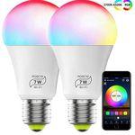 2erPack: WLAN LED RGB Glühbirnen mit Alexa Echo, Google Home & IFTTT-Support für 13,19€ (statt 22€)