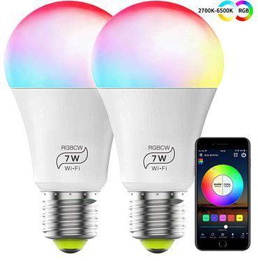 2erPack: WLAN LED RGB Glühbirnen mit Alexa Echo, Google Home & IFTTT Support für 13,19€ (statt 22€)