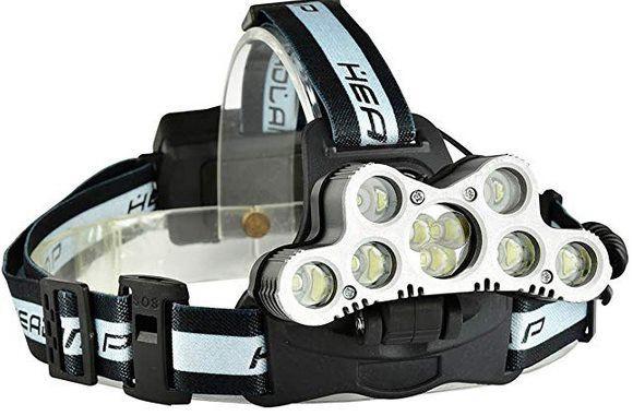 LED Stirnlampe mit 6 Modi & 7 XML T6 inkl. Akku für 13,99€   Prime