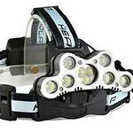 LED Stirnlampe mit 6 Modi & 7 XML-T6 inkl. Akku für 13,99€ – Prime