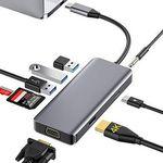 Rozeda 9in1 USB-C Hub für Laptops mit Thunderbolt für 17,99€ (statt 30€)
