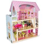 Kledio Puppenhaus aus Holz inkl. 16-teiliges Zubehör Set für 40,76€ (statt 56€)