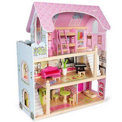 Kledio Puppenhaus aus Holz inkl. 16 teiliges Zubehör Set für 40,76€ (statt 56€)