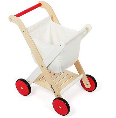Kledio Kindereinkaufswagen aus Holz für 21,24€ (statt 36€)