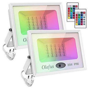 Doppelpack: 35W RGB LED Strahler inkl. Fernbedienung für 36,39€ (statt 52€)