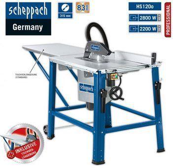 Scheppach 400V Tischkreissäge HS120o (2.80 kW) für 164,15€ (statt 229€)